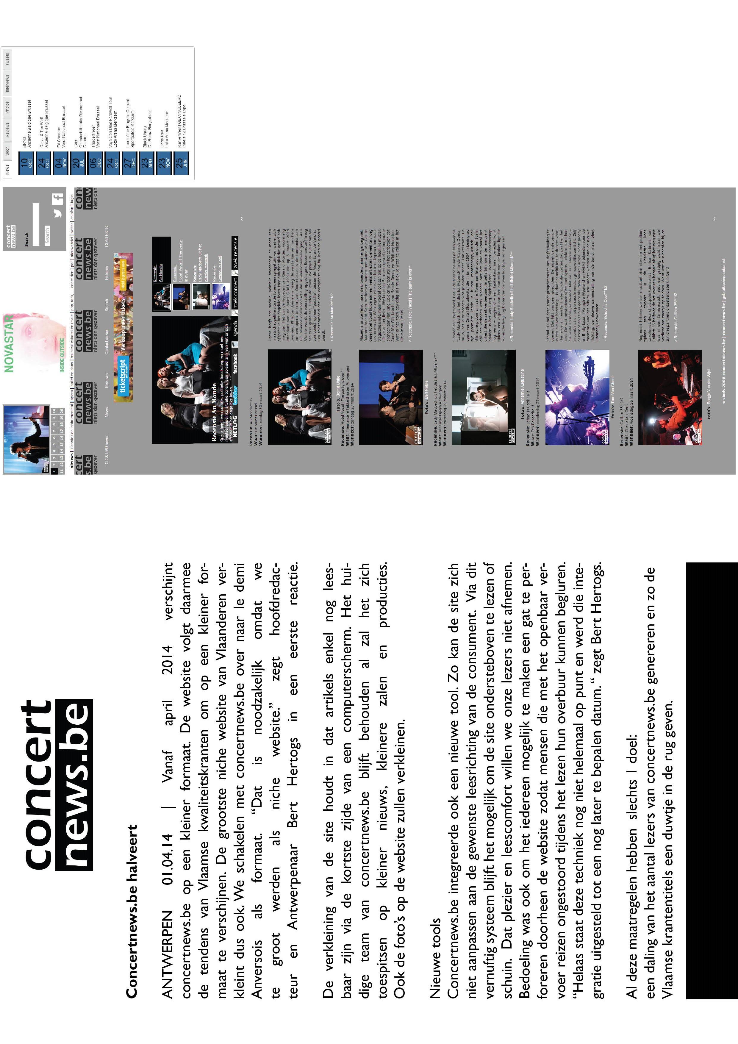 Concertnews.be halveert