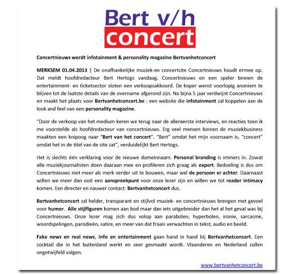 Bert van het concert